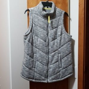 NWOT Maurices In Motion Gray Puffer Vest